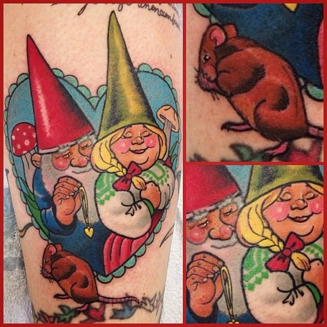 Adorable gnome love by Jenny Boulger...