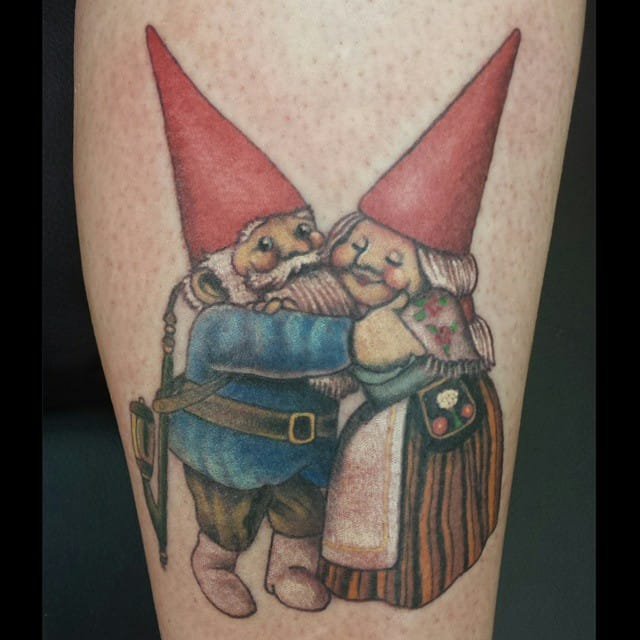 13 friendly gnome tattoos tattoodo for Garden gnome tattoo designs