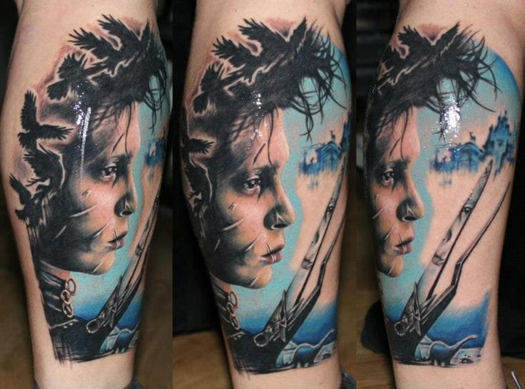 15 Touching Edward Scissorhands Tattoos