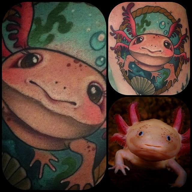 12 Unusual Axolotl Tattoos