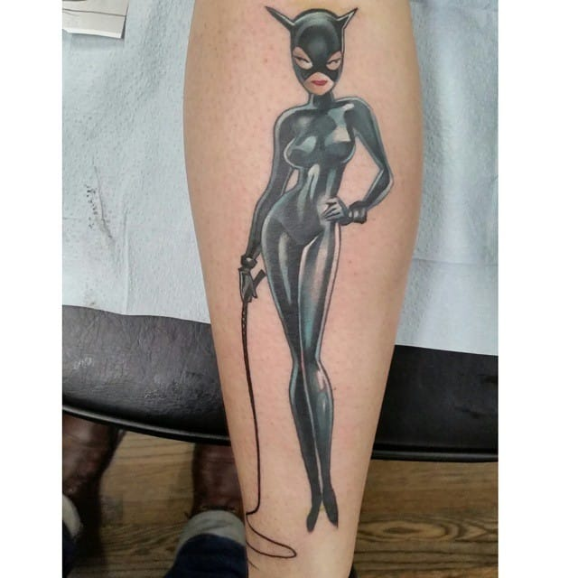 Ink by Trevor Jameus inspired by the art of Bruce Timm.