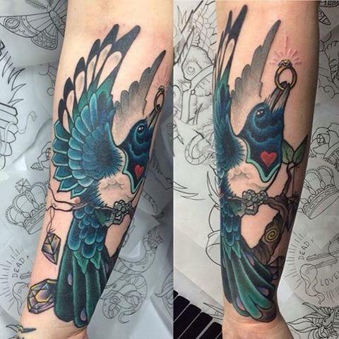 Magpie Tattoo by El Jonez