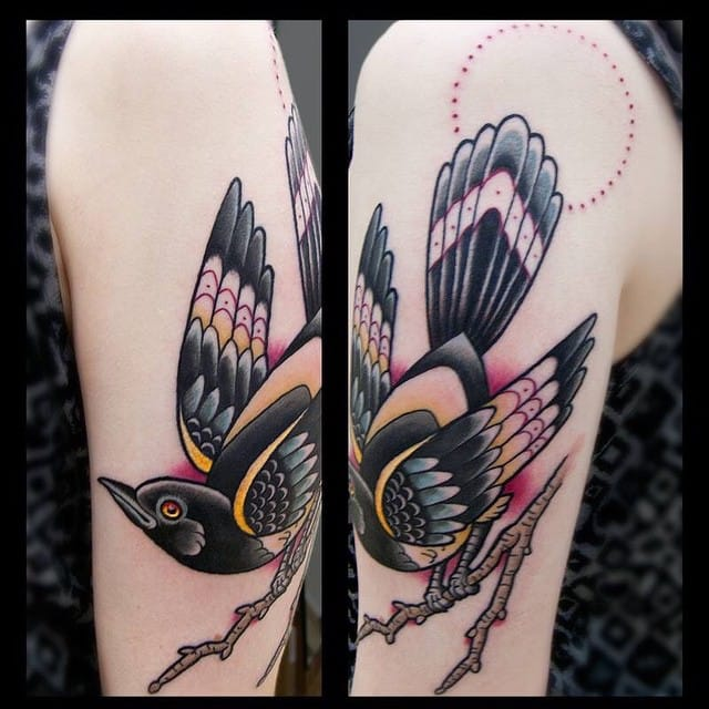 Magpie Tattoo by Ramin Banan