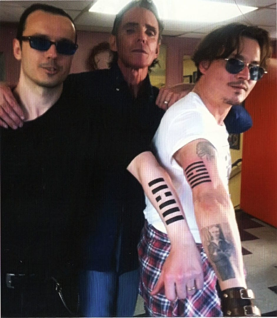 Johnny Depp and Damian Echols matching tattoo