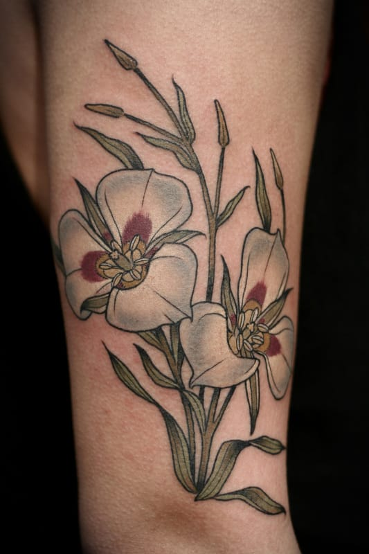 Flower sleeve tattoo.