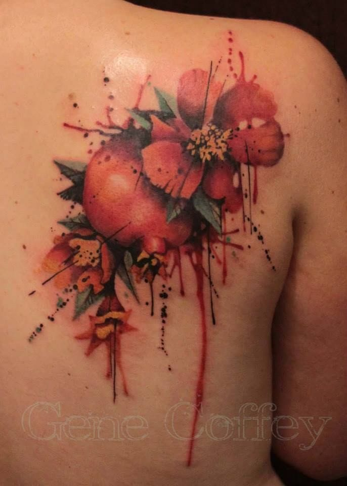 30 luscious pomegranate tattoos tattoodo. Black Bedroom Furniture Sets. Home Design Ideas