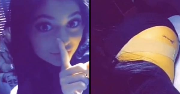 Kylie Jenner Gets A New Tattoo! And Undresses For The Needle...