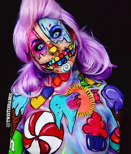 Candy Skeleton Girl by Twisting Bangs