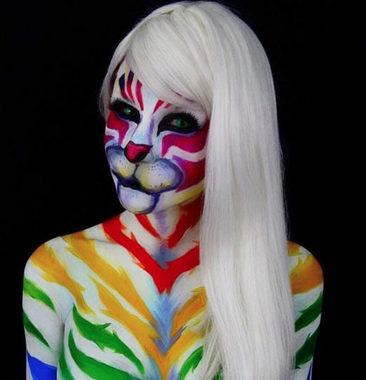 Lisa Frank White Tiger Inspired by Twisting Bangs