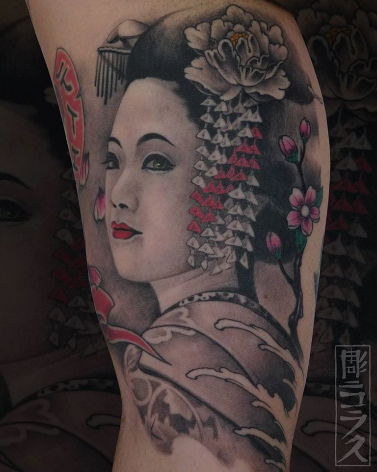 Gorgeous Geisha tattoo
