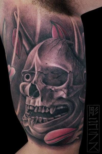 Sweet Skull Japanese style tattoo