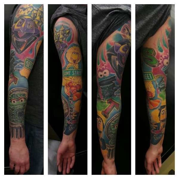 Awesome Sesame Street sleeve