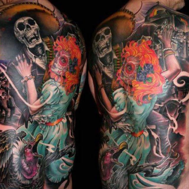 Back piece by James Tex, Deadly Tattoos
