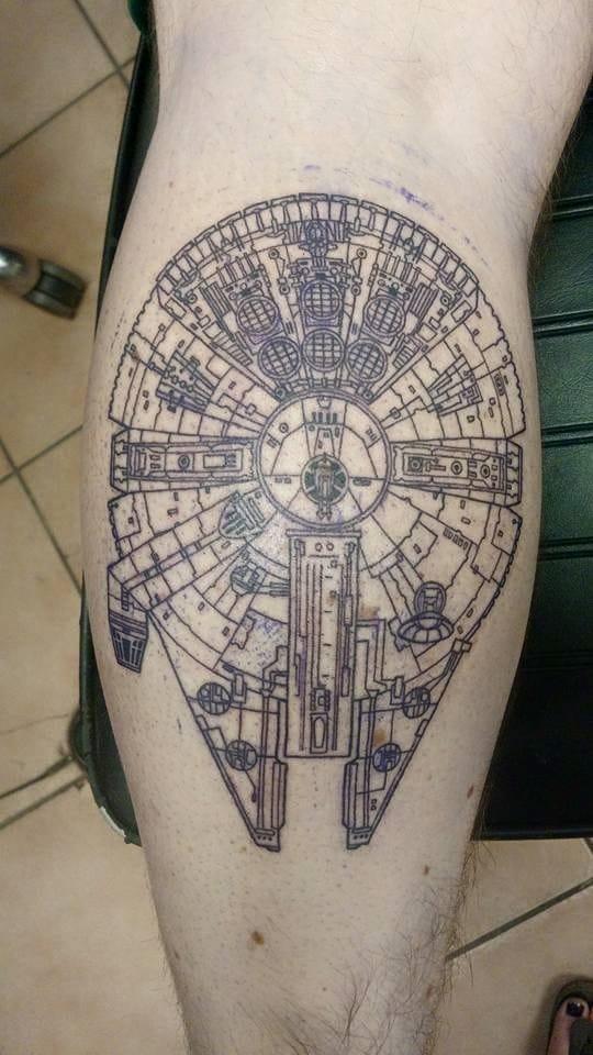 10 radical millennium falcon tattoos tattoodo
