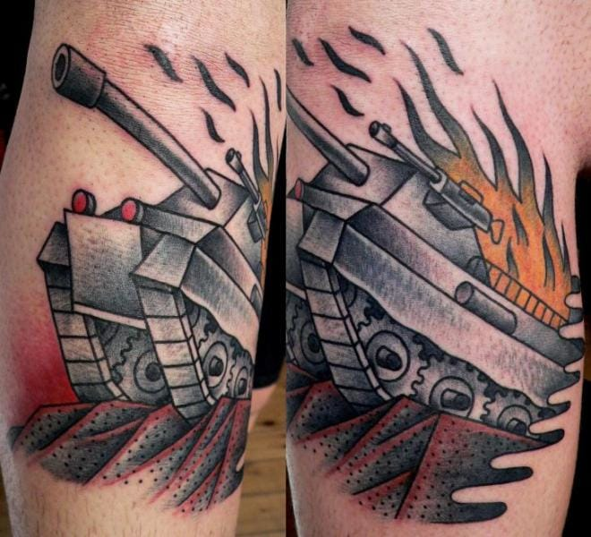 12 Tough Tank Tattoos