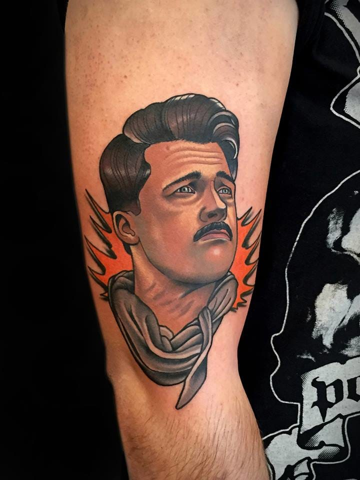 Impressive Aldo Raine Tattoo