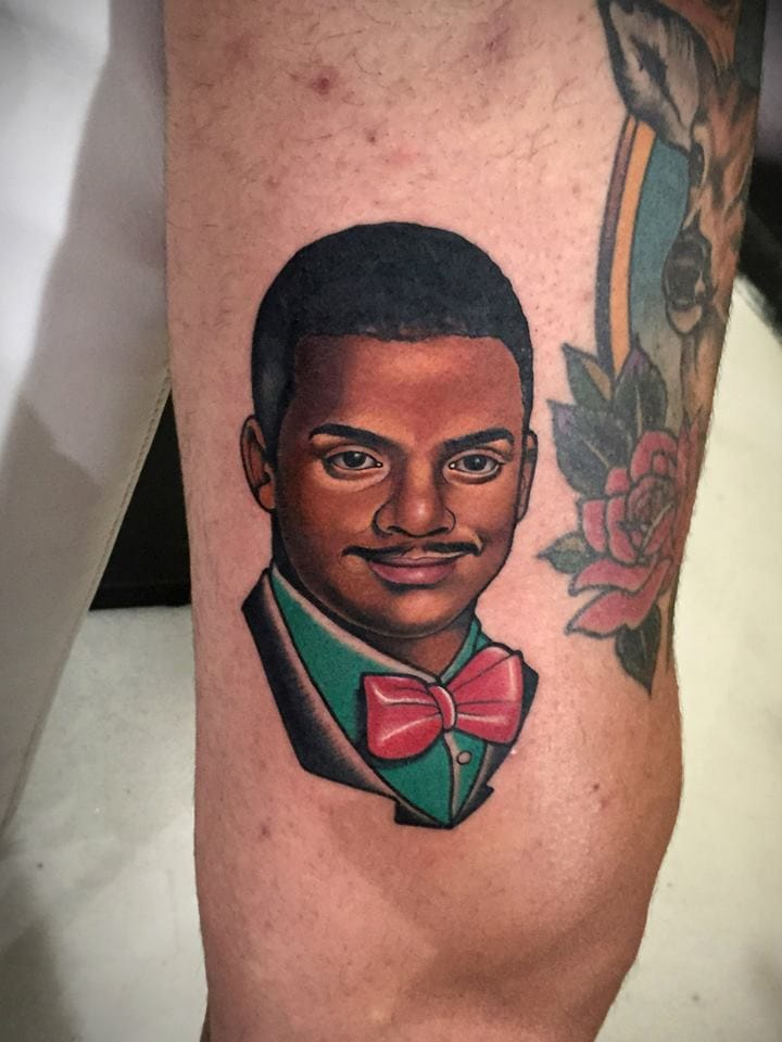 Awesome Carlton Banks Tattoo