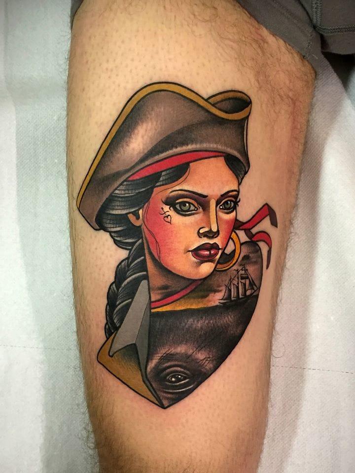 Creative Pirate Tattoo!