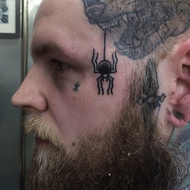 via DSpider face tattoo via Dubuddha Orgubuddha Org