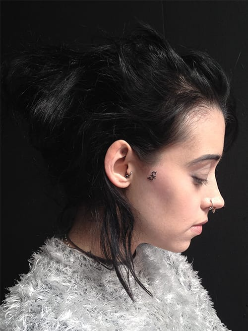 Side Of Face Tattoos: 25 Sweet Side Face Tattoos