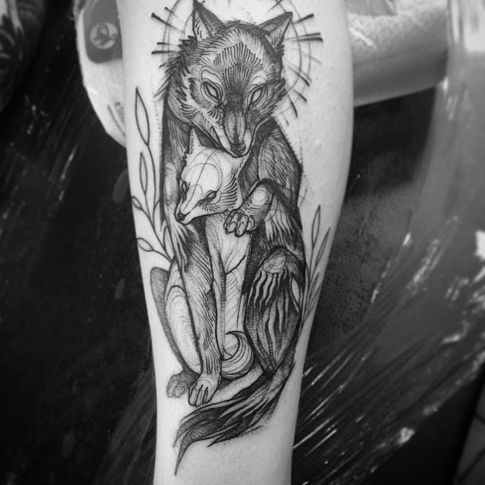 Fox family Tattoo by Nomi Chi