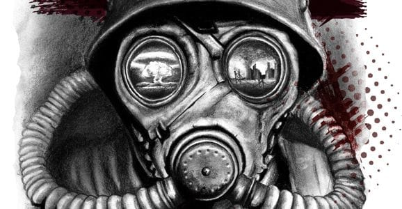 Apocalyptic gas mask by Bugylution