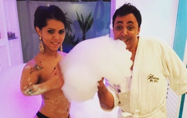 """The model-actress ran into trouble when she appeared in a video with a male dwarf in a paddling pool, with her gyrating and doing the Gangnam Style dance as the male """"touched"""" himself."""