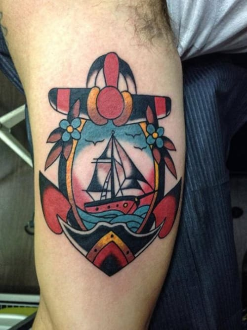 Bold Anchor Tattoo by Gianni Orlandini