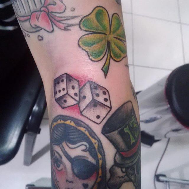 Dice Tattoo Filler by Charley Bastida