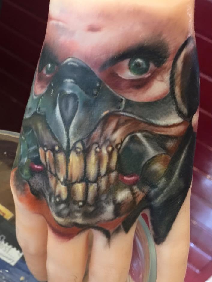 Immortan Joe Hand Tattoo by Scott Laidlaw