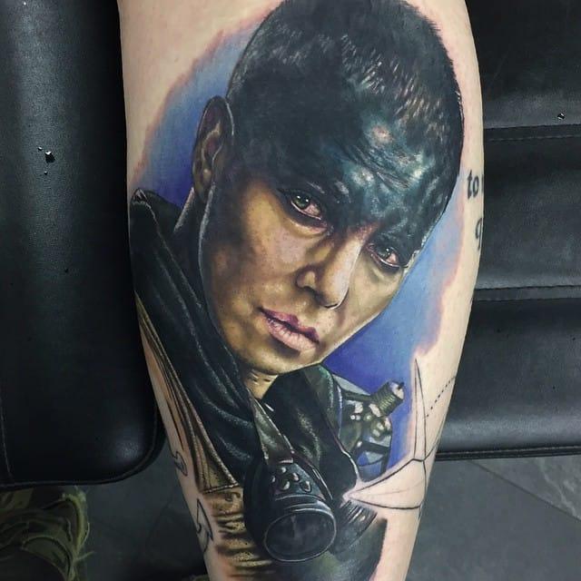 Stunning Furiosa Tattoo by Alex Rattray