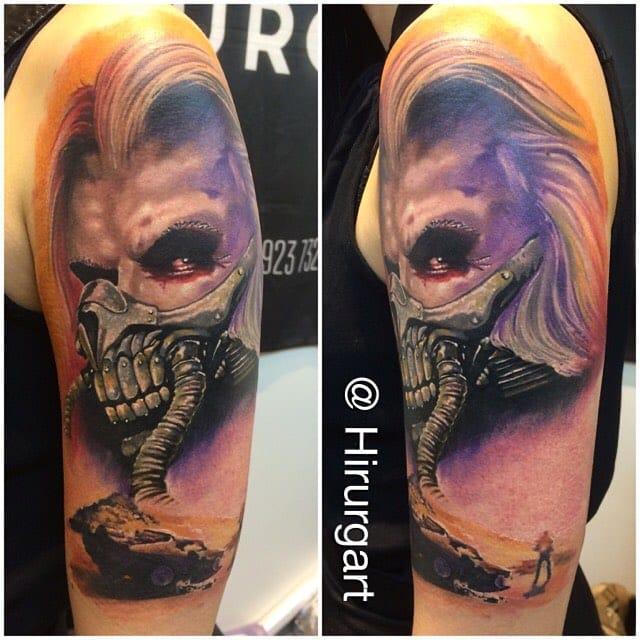 Solid Immortan Joe Tattoo by Dima HiRuRg