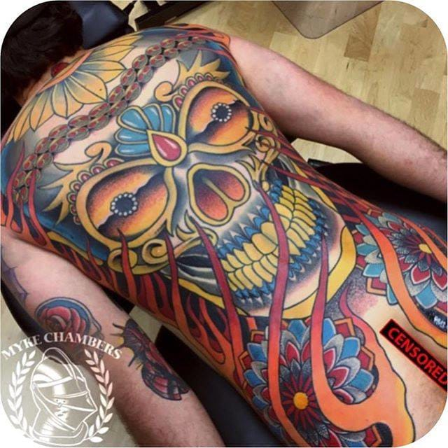 Skull Tattoo by Myke Chambers