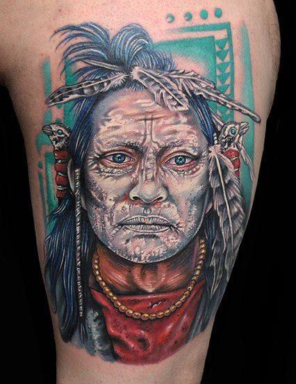 Portrait Tattoo by Roman Abrego