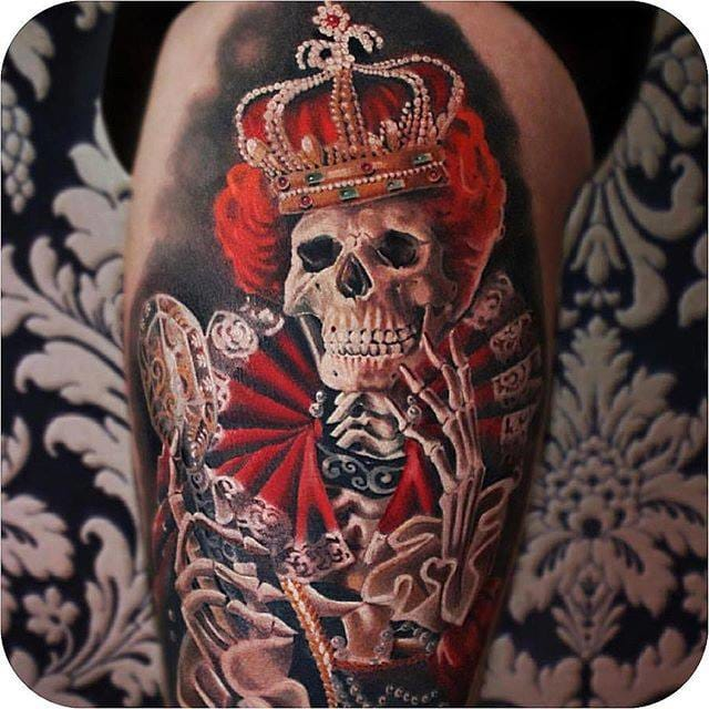 Skeleton Tattoo by Moni Marino