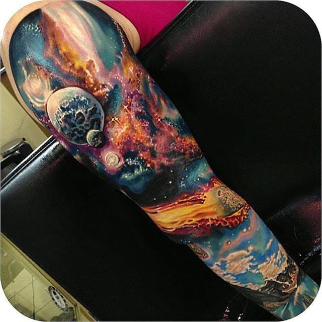 Space Tattoo by Roman Abrego