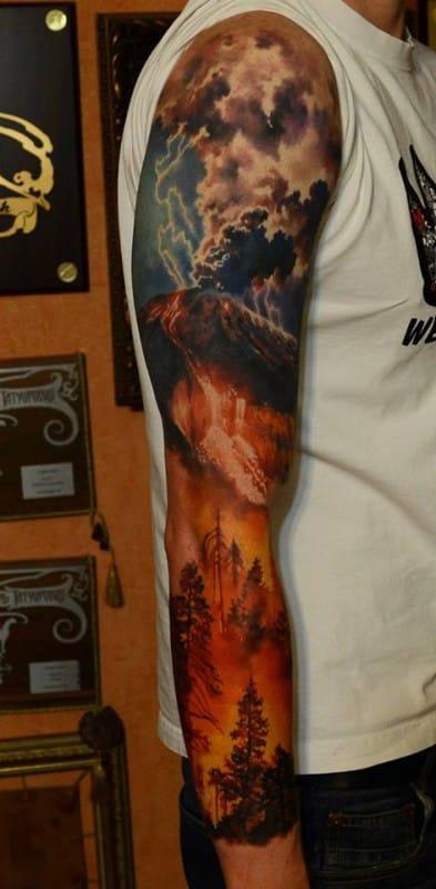 Volcano Tattoo by Den Yakovlev