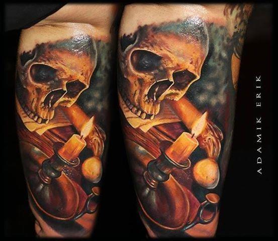 14 Tatuagens De Velas Para Iluminar Suas Ideias