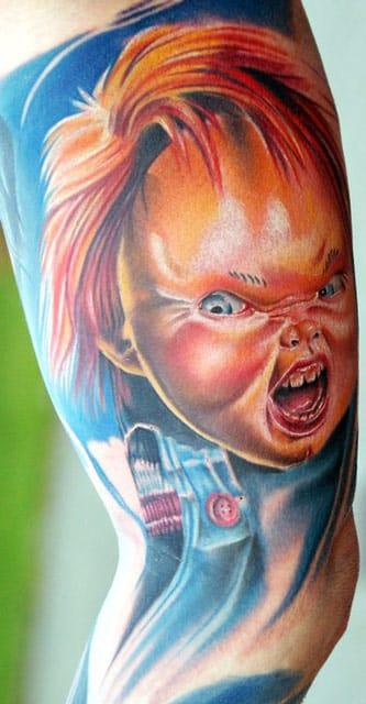 Chris Schmidt mostra que nem só de fofurinhas vivem os coloridos! Chucky!!!