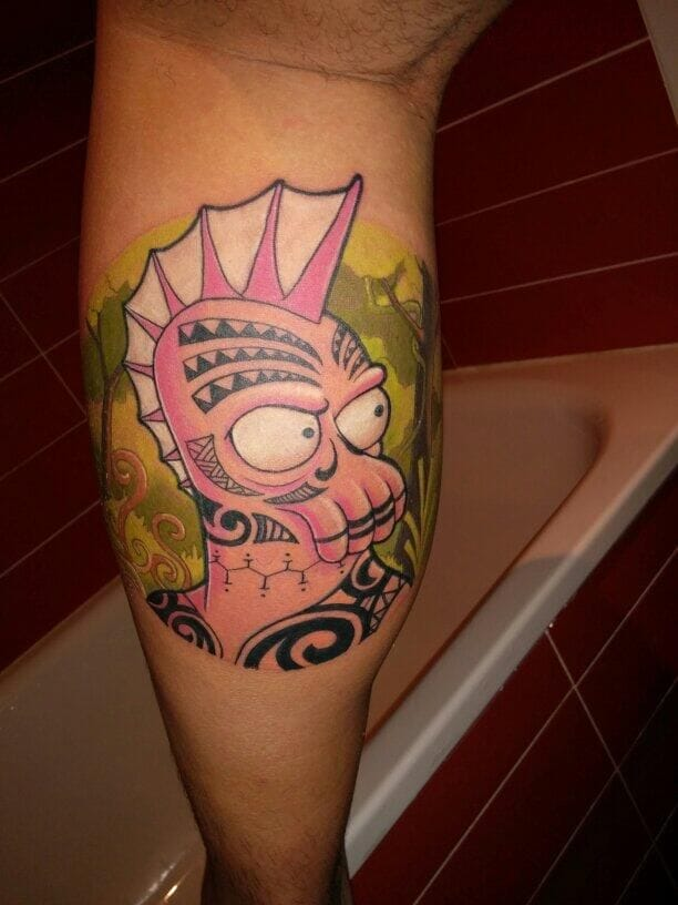 Awesome Zoidberg tattoo face