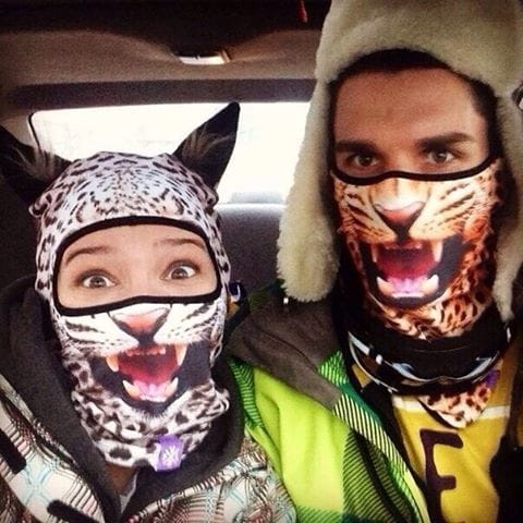 Yes, they really like their new ski masks!