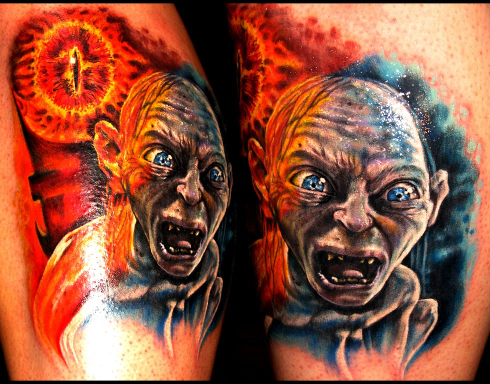8 Creepy But Cool Gollum Tattoos