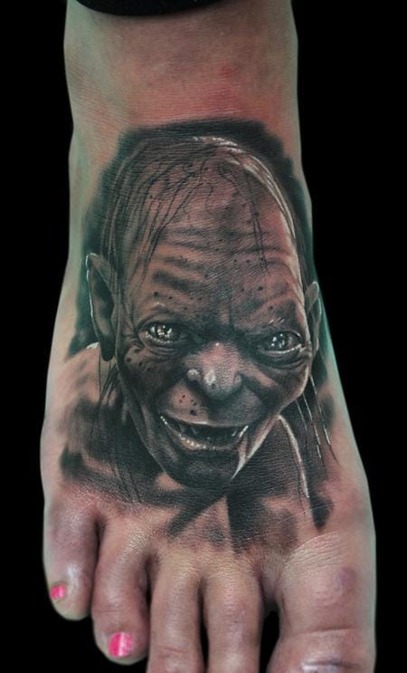 Gollum foot tattoo