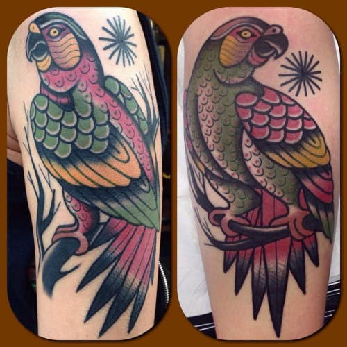 Parrot Tattoo by Francesco Garbuggino