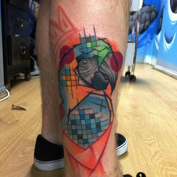 Abstract Tattoo by Mike Stocklings