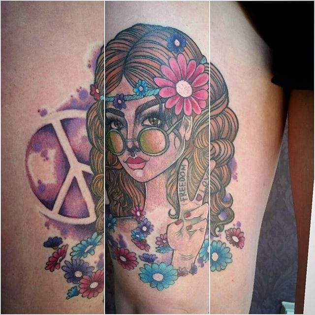 Hippy girl by Megan Rose.
