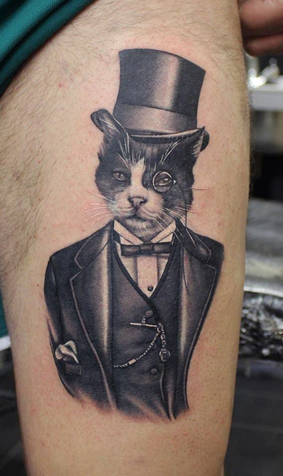 30 tattoos for cat lovers tattoodo for Bad cat tattoo