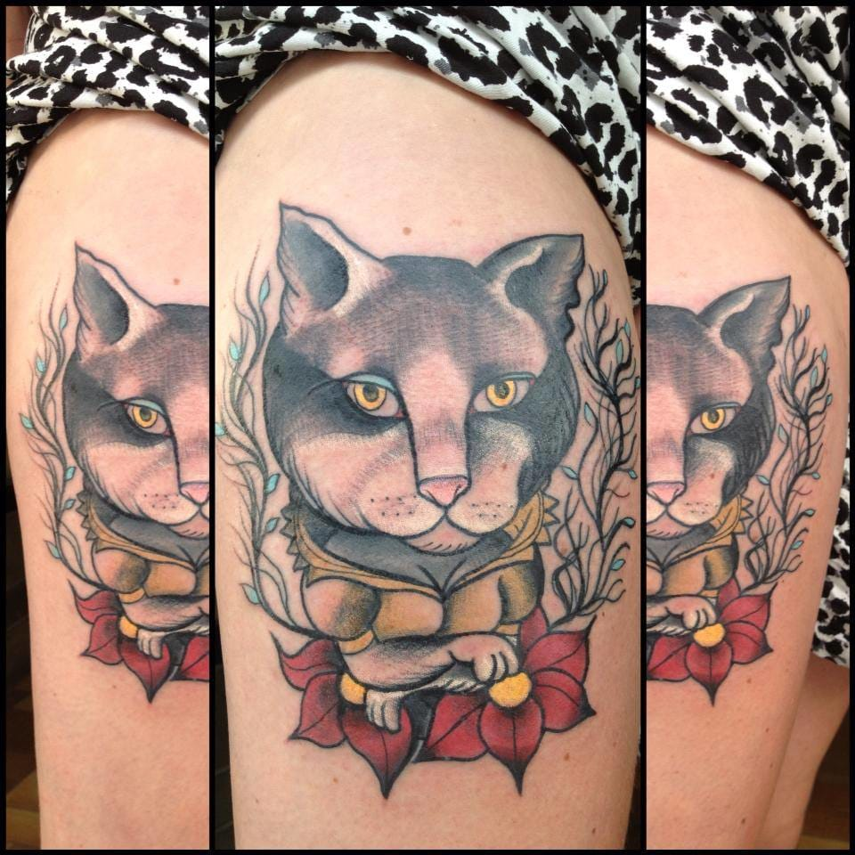 Cartoonish adorable she-cat by Nicoz Balboa.