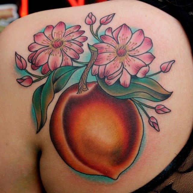 Pure peach by Kim Deakins.