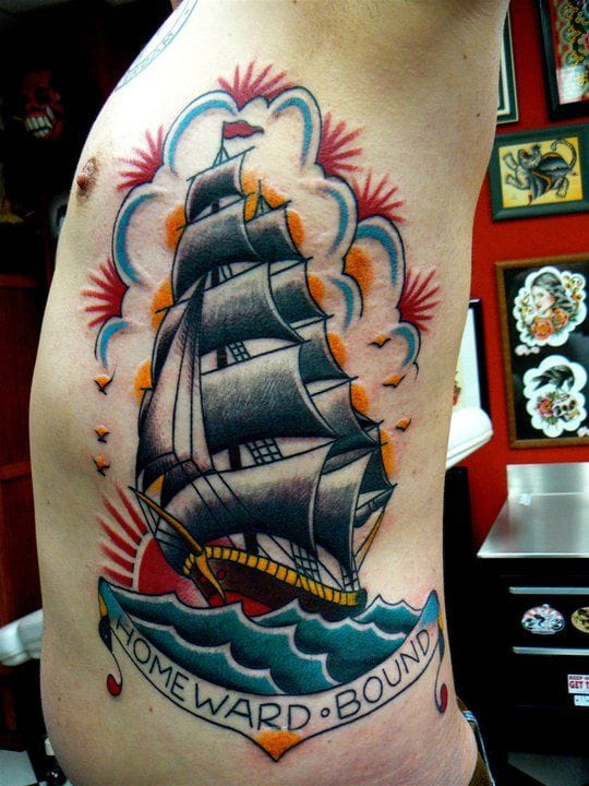 Epic Homeward Bound Tattoo by John Leijtens